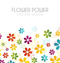 Colorful flowers on black vector image vector image