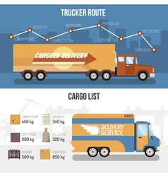 Delivery Trucks Banners vector image