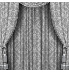 Gray curtain vector image