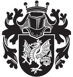 heraldic silhouette No14 vector image vector image