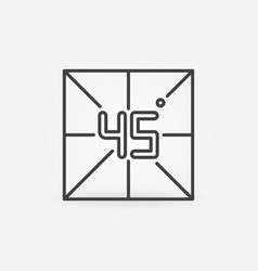 45 degrees concept minimal icon in linear vector