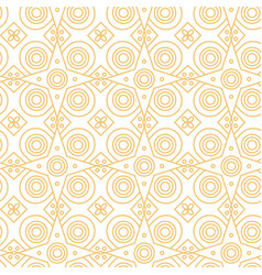 abstract line art eastern pattern vector image