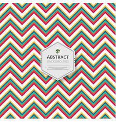 abstract of christmas colorful stripe zigzag line vector image