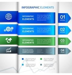 Abstract paper business infographics elements vector