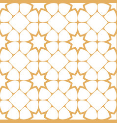 Abstract seamless pattern in arabian style with vector