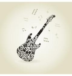 Art a guitar vector