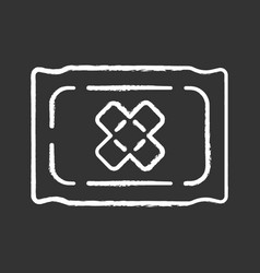 bandage chalk icon virtual video game inventory vector image