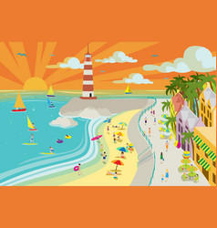 Beach town vector