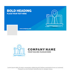 blue business logo template for navigation map vector image