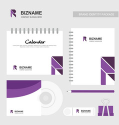 Brand advertising calender diary cd cover and vector