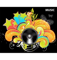 Bright Music Backgound vector image