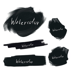brush stroke set vector image