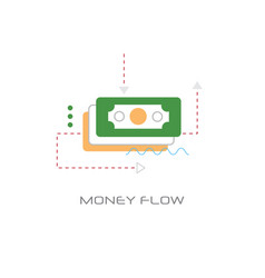 business investment banknote icon money flow vector image