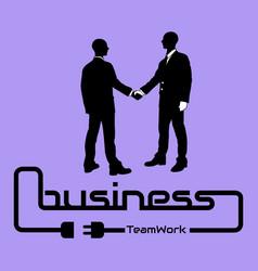 business teamwork background flyer poster desig vector image