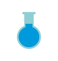 chemical test tube round icon vector image