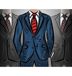 Choosing a leader businessman vector image