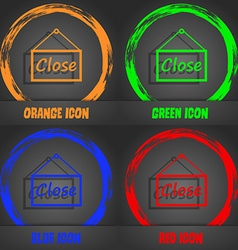 Close icon sign Fashionable modern style In the vector