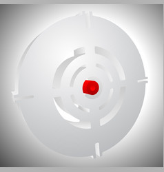 Cross hair reticle target mark editable vector