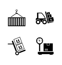 Delivery order simple related icons vector