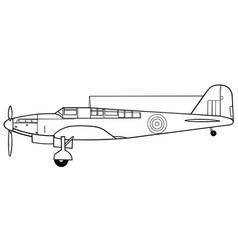Fairey fulmar side vector