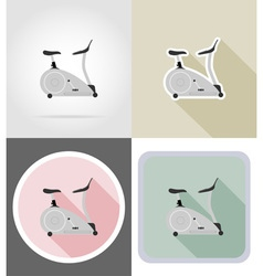 Fitness flat icons 14 vector