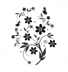 Floral element design vector