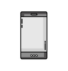 Grayscale smartphone technology to call and talk vector