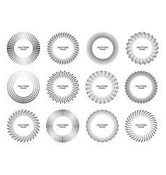 halftone circle frame retro round frame vector image