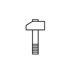 Hammer wrench tools icon can be used for web logo vector