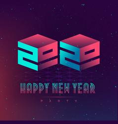 happy new year 20 20 party futuristic design vector image