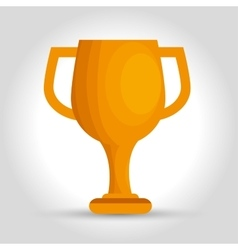 icon trophy efficiency award design isolated vector image