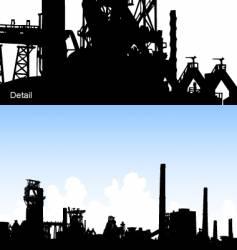 industrial skyline vector image