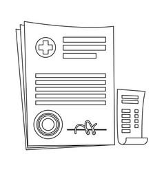 Isolated object of pharmacy and hospital logo vector