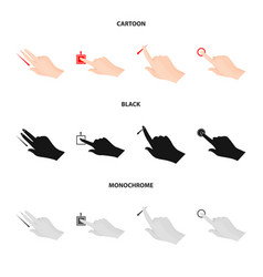 Isolated object of touchscreen and hand sign vector