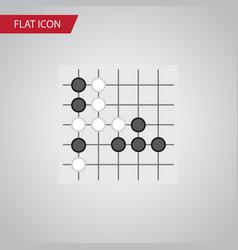 isolated renju flat icon gomoku element vector image