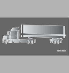 line sketch trailer delivery and shipping vector image