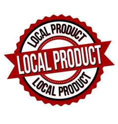 Local product label or sticker vector