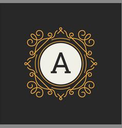 luxury logo template for restaurant vector image