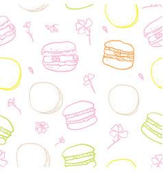 macarons stylish seamless pattern vector image