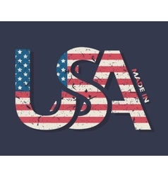 made in usa typography design t-shirt vector image