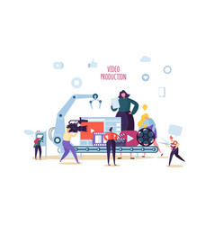making movie video production concept television vector image