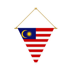 Malaysian triangle flag hanging vector