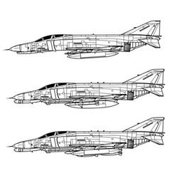 mcdonnell douglas f-4 phantom ii vector image