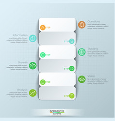 Modern infographic design template 3 double-sided vector