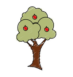 Natural tree plant icon vector