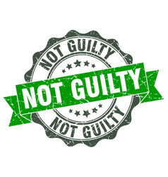 not guilty stamp sign seal vector image