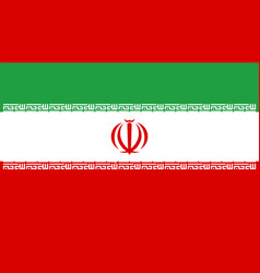official national flag iran solid background vector image