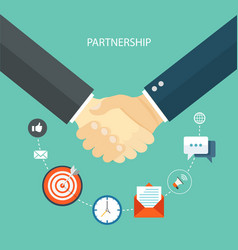 Partnership concept flat vector