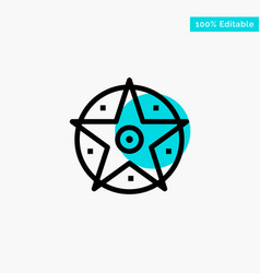 pentacle satanic project star turquoise highlight vector image