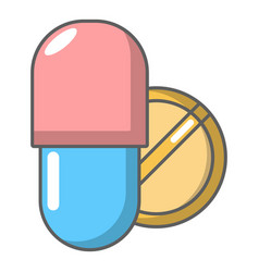 pills icon cartoon style vector image